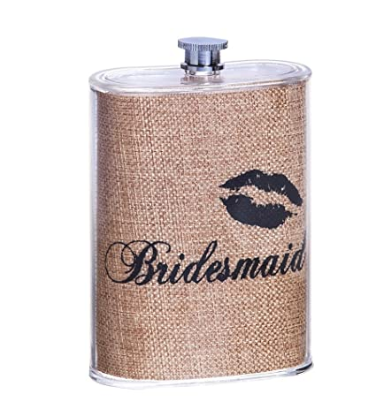 Sealed with a Kiss 5 Oz. Bridesmaid Acrylic Flask: Amazon.ca: Home & Kitchen