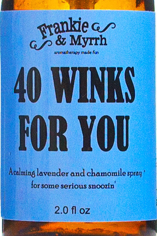 40 Winks for You - Lavender, Chamomile, Vetiver, Sleeping Aromatherapy Spray | Pillow Mist | Essential Oil Spritz by Frankie & Myrrh