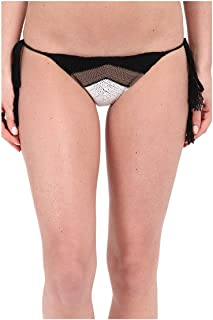 product image for Vitamin A Swimwear Women's Nightbird Tie Side Bottoms Black/Taupe/White Swimsuit Bottoms 8