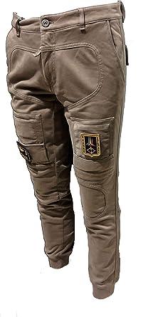 Aeronautica Militare pantalón de Sudadera PF743 57374 Fango ...