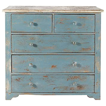 The Attic Chest of 5 Drawers (Blue)