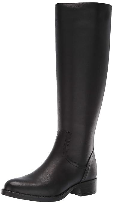937ab787977d Steve Madden Women s Jasper Fashion Boot Black Leather 6 ...