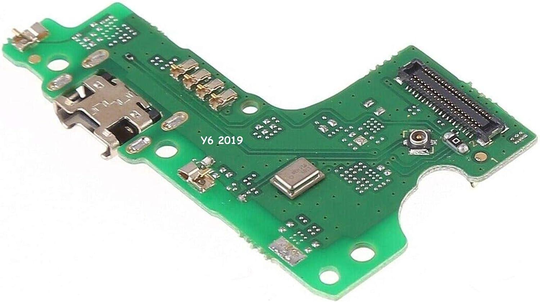 Compatible con Huawei Y6 2019 MRD-LX1 Flat Flex sub Board Dock Micro USB Jack Puerto de entrada USB para conector cable carga + micrófono Sync datos