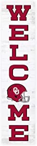 P. Graham Dunn Welcome University of Oklahoma Sooners NCAA 47 x 10.5 Birch Wood Vertical Porch Leaner Sign