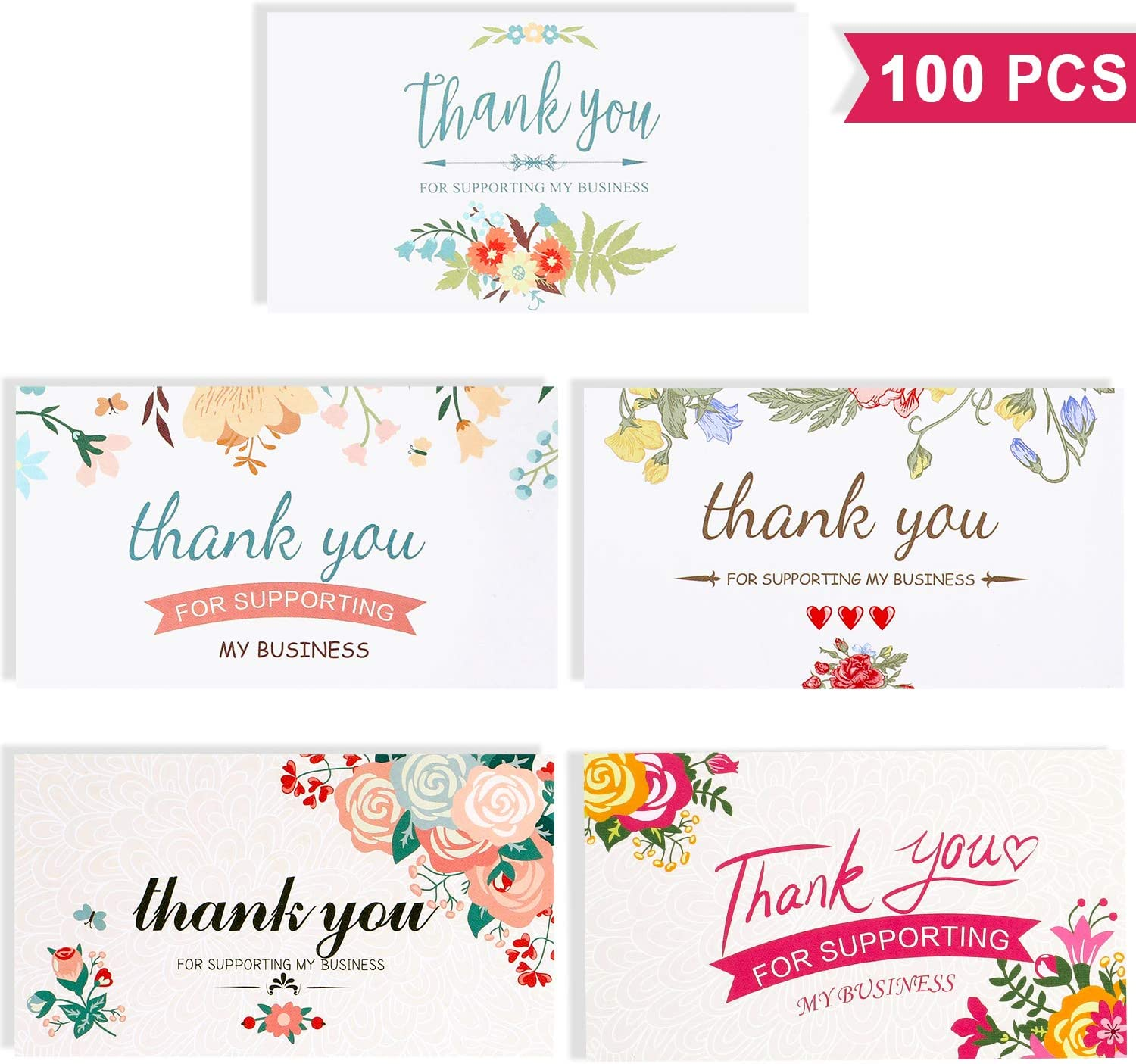ghdonat.com 100 Pieces Thank You for Supporting My Business Cards ...