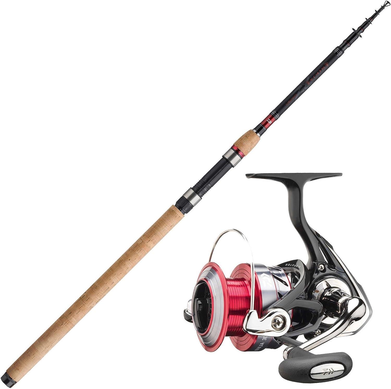 Daiwa Juego de Caña Hecht Spinning Pesca Carrete Profesional Combo ...