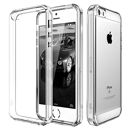 new styles 5412b 20e5b ELV ip5SE-tpuPC-clr Transparent Back Case Cover for iPhone 5S (Clear)