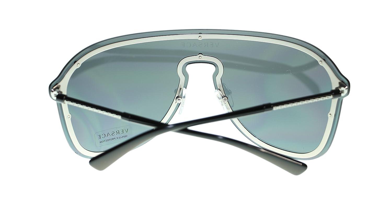 663933e698 Versace Pilot Women Sunglasses VE2180 100087 Silver Grey Authentic 44mm   Amazon.ca  Clothing   Accessories