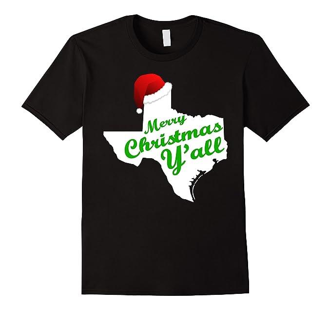 mens texas christmas shirt merry christmas yall t shirt 2xl black