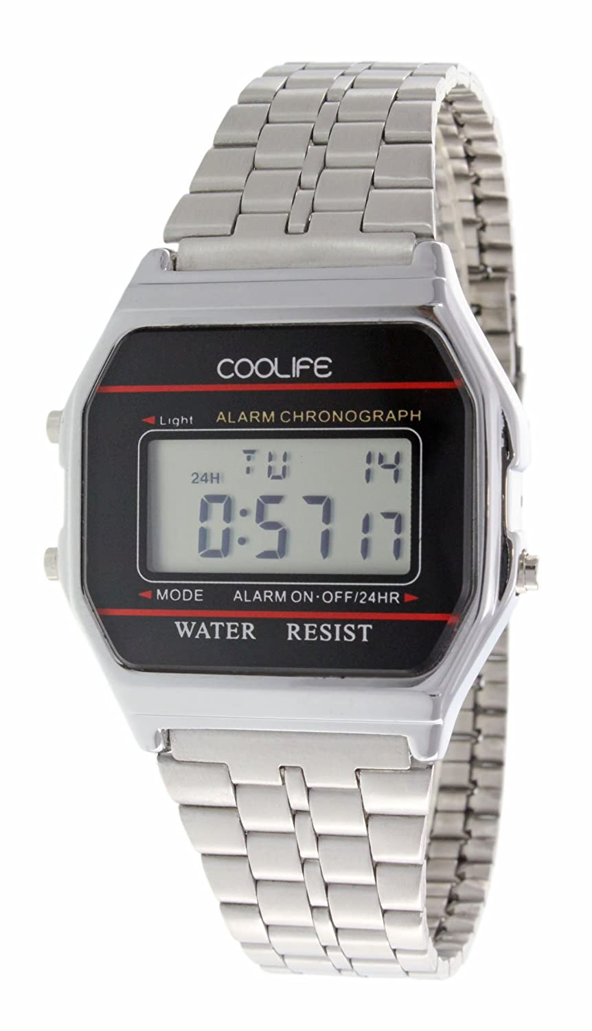 Coolife Retro Style Watches - Reloj de Cuarzo Unisex, con Correa de Metal