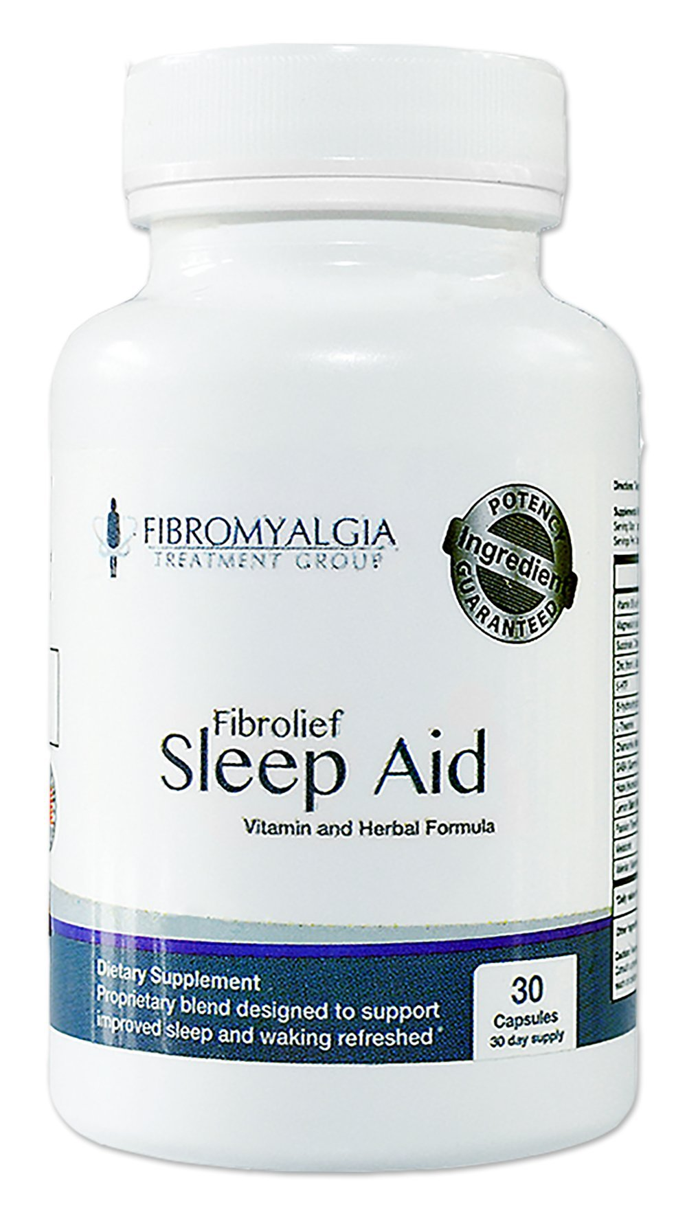 All-Natural Fibrolief Sleep Aid - Works Fast - Safe for Fibromyalgia - No Grogginess and Non-Habit Forming - Alternative Sleep Aid Supplement - 30 Day Supply