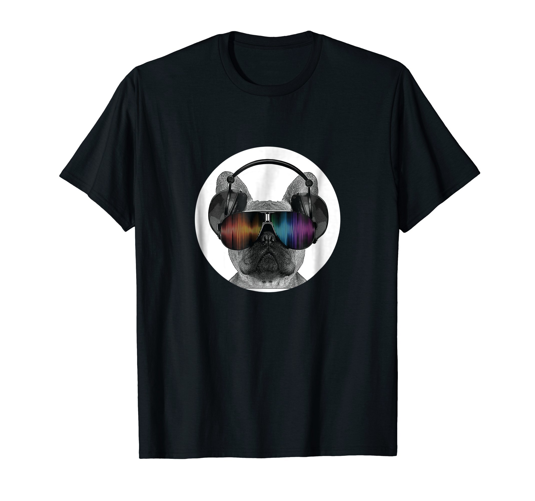 Pug Puppy Dog With Headphones On - Back To School Tshirt