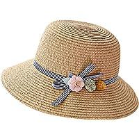 RISTHY Sombrero de Paja Sombrero de Sol Plegable Gorro de Pescador Gorro Al Aire Libre Visera Panamá con Protección…