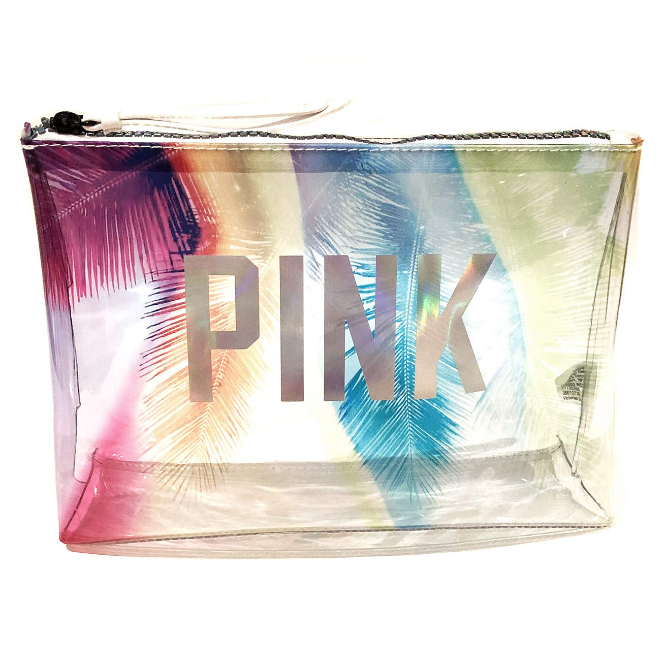 Victoria Secret Pink Prism Palm Travel Pouch Makeup Bag