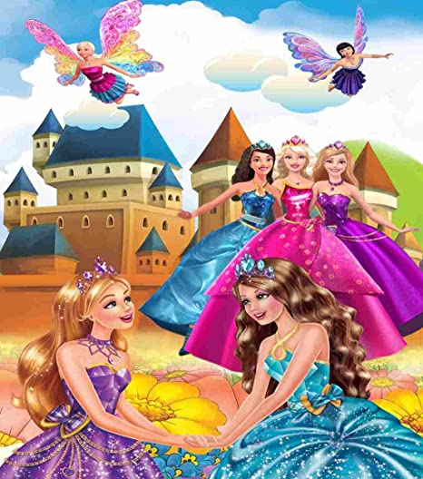 Kayra Decor Barbie And Her Friends 3d Wallpaper Print Decal Deco