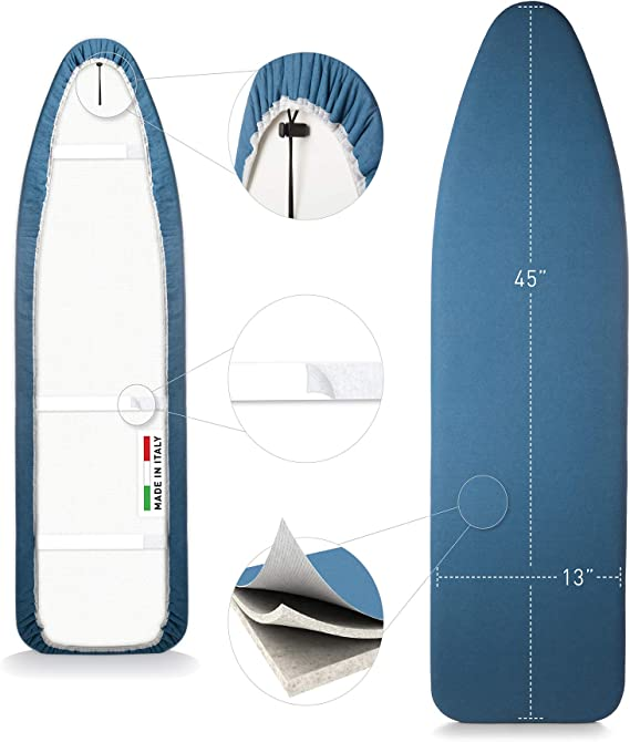 """17/"""" x 49/"""" ironing board cover Metallic heat-reflective scorch resistant coating"""