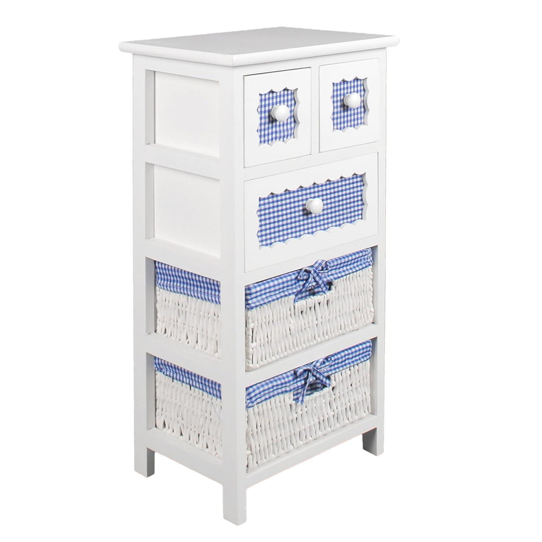 Ts-Ideen 4337 - Mobiletto per il bagno con 1 cassetto e 3 cestini ...
