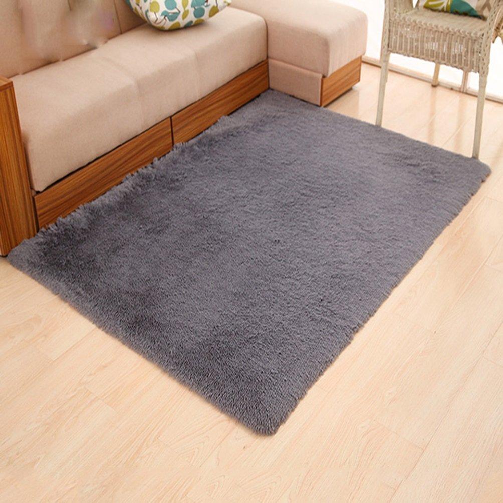 WAN SAN QIAN- Children Bedroom Carpet Living Room Carpet Sofa Europe Princess Rectangle Thicker Rug Rug ( Color : Gray , Size : 160X200CM )
