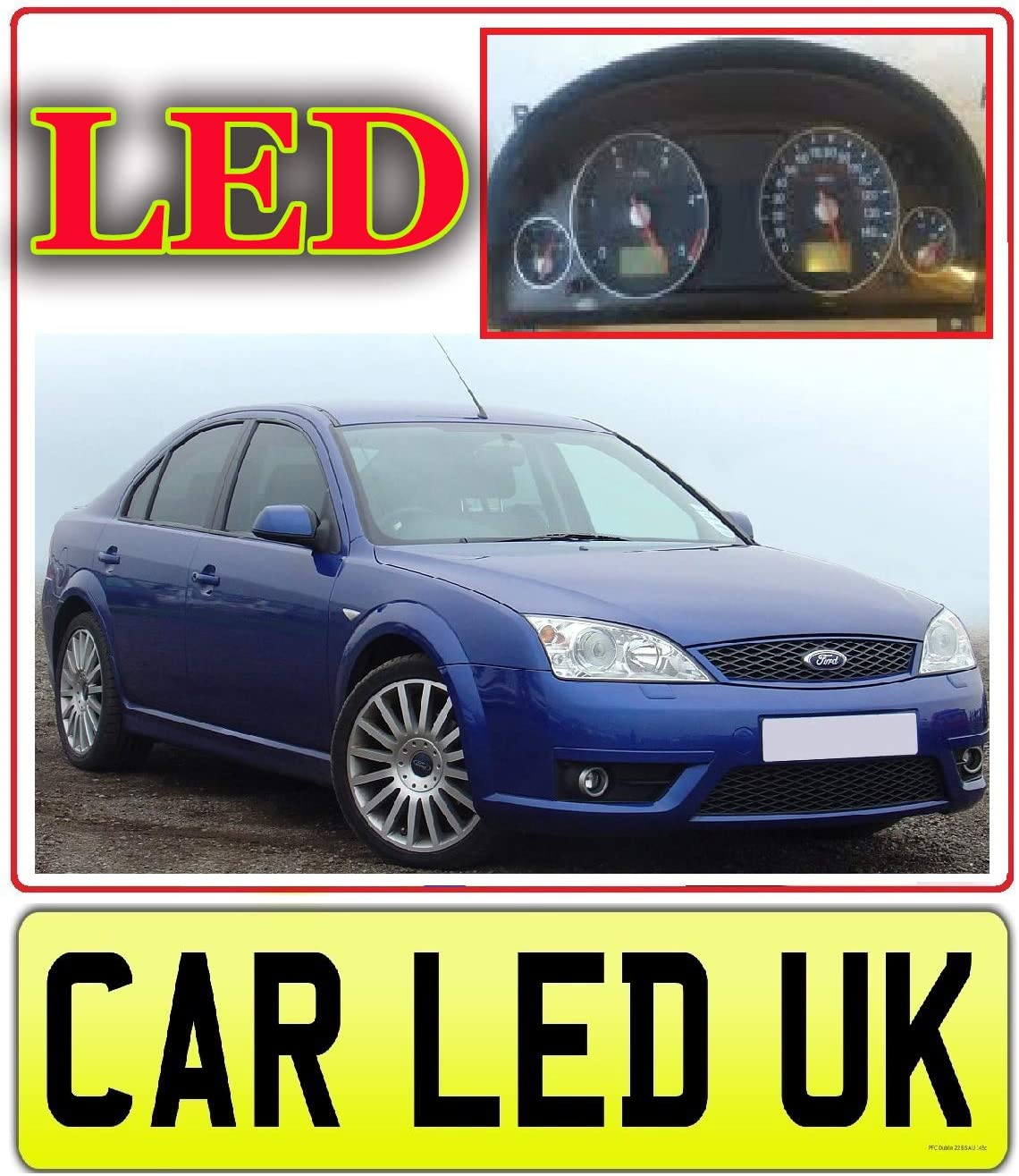 6 x LED Dash//Speedo//Cluster//Dashboard Kit Bulbs  Mondeo Mk3 2000 to 2007 Instrument Cluster LED Upgrade Green