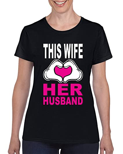 Valentine S Day This Wife Loves Her Husband T Shirt For Women Round
