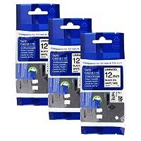 3x Ruban pour Etiqueteuse Compatible Brother TZe-231 TZ-231 Noir sur blanc 12mm x 8m pour Brother P-Touch 1000W 1010 1090 1830VP 2030VP 2100VP 2430PC 2470 2730VP 7100 VP7600VP et aut