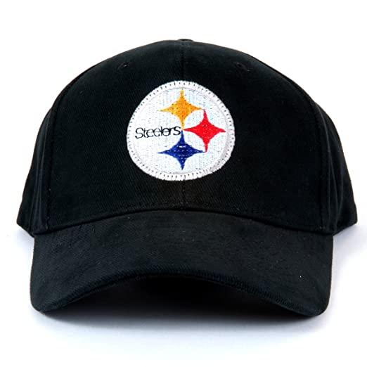 9204073b720 Amazon.com   NFL Pittsburgh Steelers LED Light-Up Logo Adjustable Hat    Sports Fan Novelty Headwear   Clothing