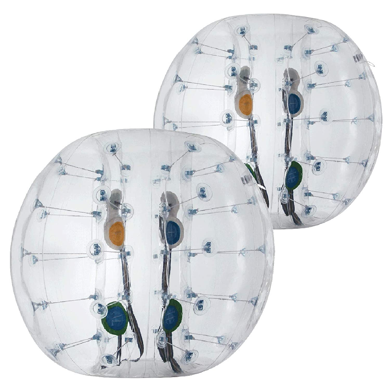 Popsport Inflatable Bumper Ball Set 4FT Bubble Soccer Ball Suit 2 Pack 0.8mm Eco-Friendly PVC Zorb Ball Human Hamster Ball for Adults and Kids 4FT 2Pcs