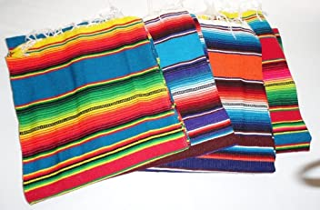 Oro Import Assorted Colors Sarape Serape Mexican Blanket, Saltillo Southwestern Afghan 55