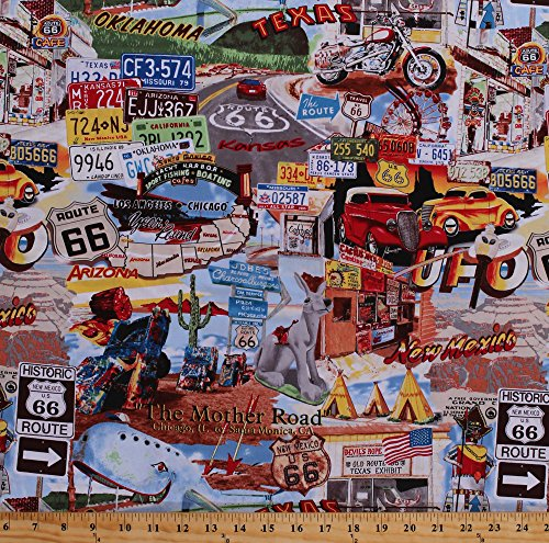 Route 66 Fabric - 8
