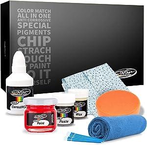 Color N Drive for Peugeot Automotive Touch Up Paint | 9PM4 - Gris Shark Nacre | Paint Scratch Repair, Exact Match Guarantee - Plus