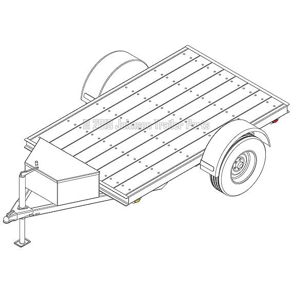 Amazon Com 5 X 8 Utility Trailer Plans