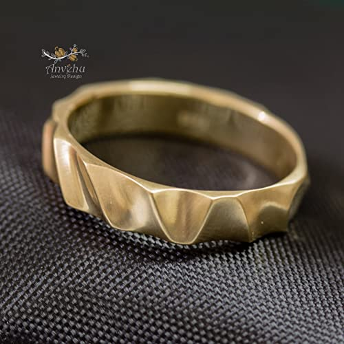 Amazon Com Men Wedding Band 5mm Band 14k Gold Band 18k Gold