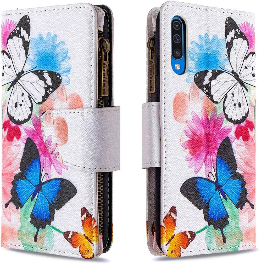 Brieftasche Handyh/ülle Klapph/ülle mit Kartenhalter Stossfest Lederh/ülle f/ür Samsung Galaxy A50 TOBFE170182 T1 Tosim Galaxy A50 A50S A30S H/ülle Klappbar Leder