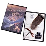 Antique Dip Pen Set Writing Quill Feather Pen Ink Set -Retro Feather Pen Calligraphy Pen Set Writing Quill Ink Dip Pen For Harry Potter Fans ,Included Ink(Owl Feather Pen)
