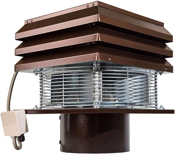 Extractor De Humos Para Chimeneas Redonda 25 cm 250 mm Extractores De Humo Sombrero Eolico Para Estufa Para La Extracción De Humo Aspirador De Humos Para Barbacoa Parillas Estufa De Pellets: Amazon.es: