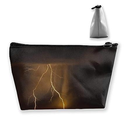Portable Thunderstorm Lightning Make Up Mini Bag Coin Purse Zipper Travel Bag