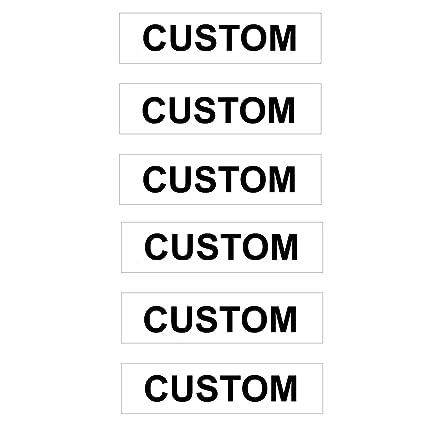 Amazon.com: Paquete de 6 carteles personalizados de Real ...
