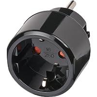 Brennenstuhl Reisestecker/Reiseadapter (Reise-Steckdosenadapter für: USA Steckdose und Euro Stecker) Farbe: schwarz