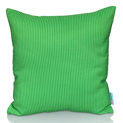 Cojín Decorativo Sunburst Outdoor Living LIGHT GREEN STRIPE 60cm x 60cm (Sin Borde) Funda Cojín para Sillón, Sofá, Cama o Patio – Solo Funda, Sin ...