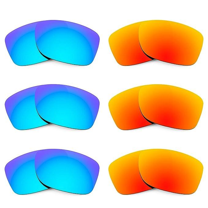 Revant Combo de 6 pares de lentes polarizados, de reemplazo, para Oakley Jupiter Carbon