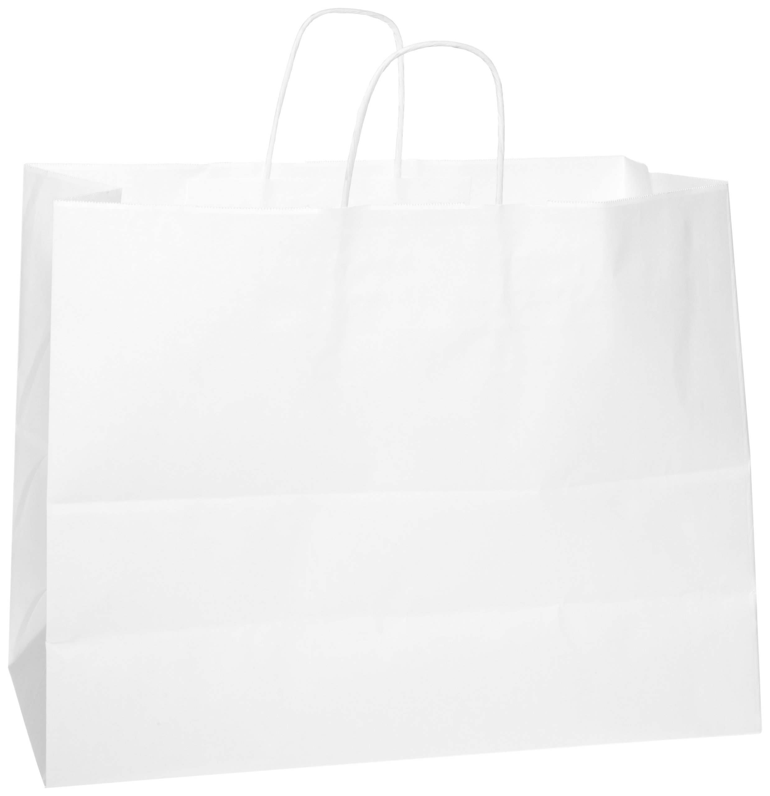 General WSHP16612C Paper Shopping Bag, 65lb White, Heavy-Duty 16 x 6 x 12, (Case of 250 bags) by Duro