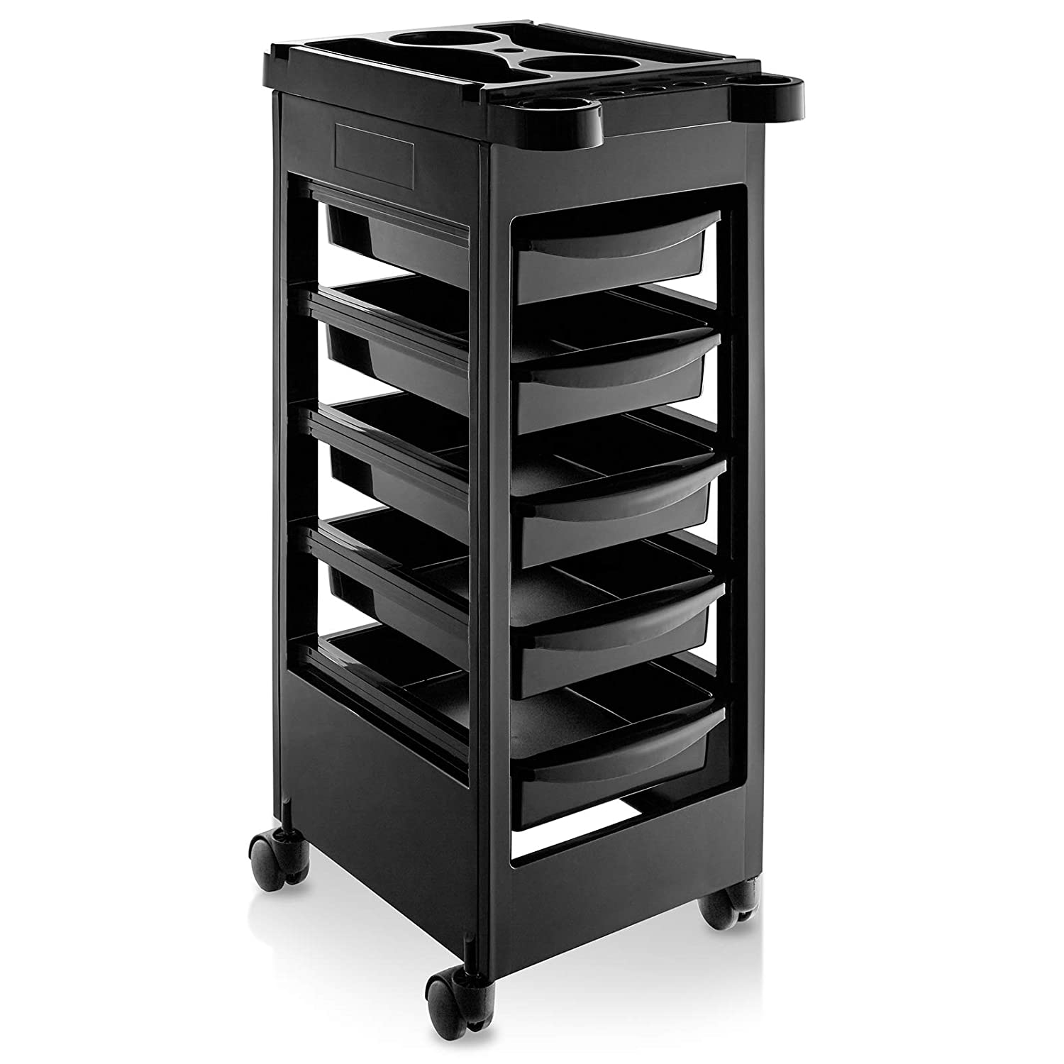 Saloniture Beauty Salon Rolling Trolley Cart With 5 Drawers: Beauty