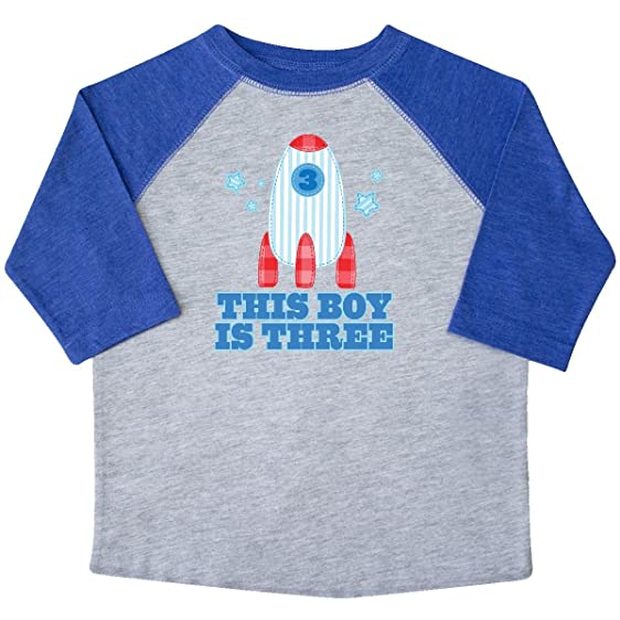 Inktastic 3rd Birthday Boy Rocket Toddler T Shirt 2T Heather And Royal