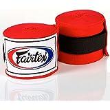 Fairtex Bandagen, halb-elastisch, 4.5 m, rot, Hand Wraps, MMA, Muay Thai, Boxen