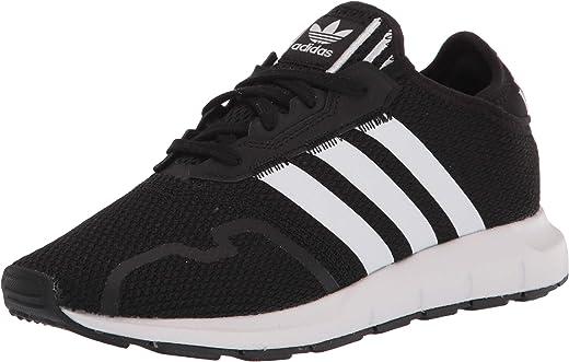 حذاء رياضي adidas Originals Swift Essential Sneaker، أسود/أبيضأسود، مقاس 3 أمريكي للأطفال الصغار للجنسين