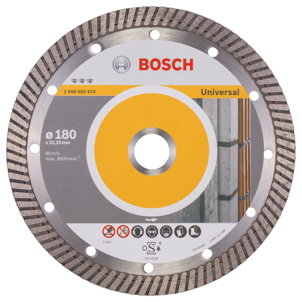 2608602674 BOSCH 180MM DIAMOND CUTTING DISC BEST FOR UNIVERSAL TURBO