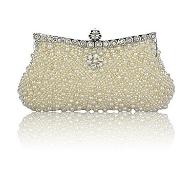 Perlé Diamanté Sac à Main Pochette de Soirée Chic Gracieux Pour Mariage  Cérémonie Bal Femme (Beige)  Amazon.fr  Chaussures et Sacs 7d6c358f838