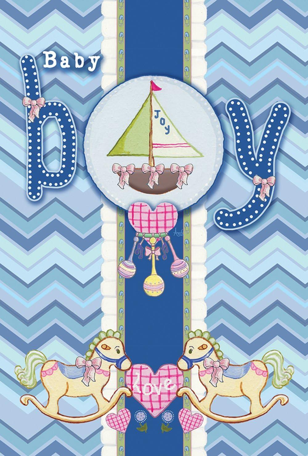 "Toland Home Garden 119866 It's a Baby Boy 12.5 X 18 Inch Decorative, Garden Flag (12.5"" x 18"")"