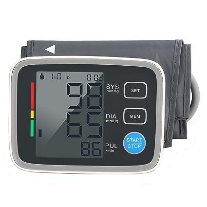 Tensiómetro de Brazo Digital con Detección del Pulso Arrítmico, Lectura Fácil Función de Memoria con