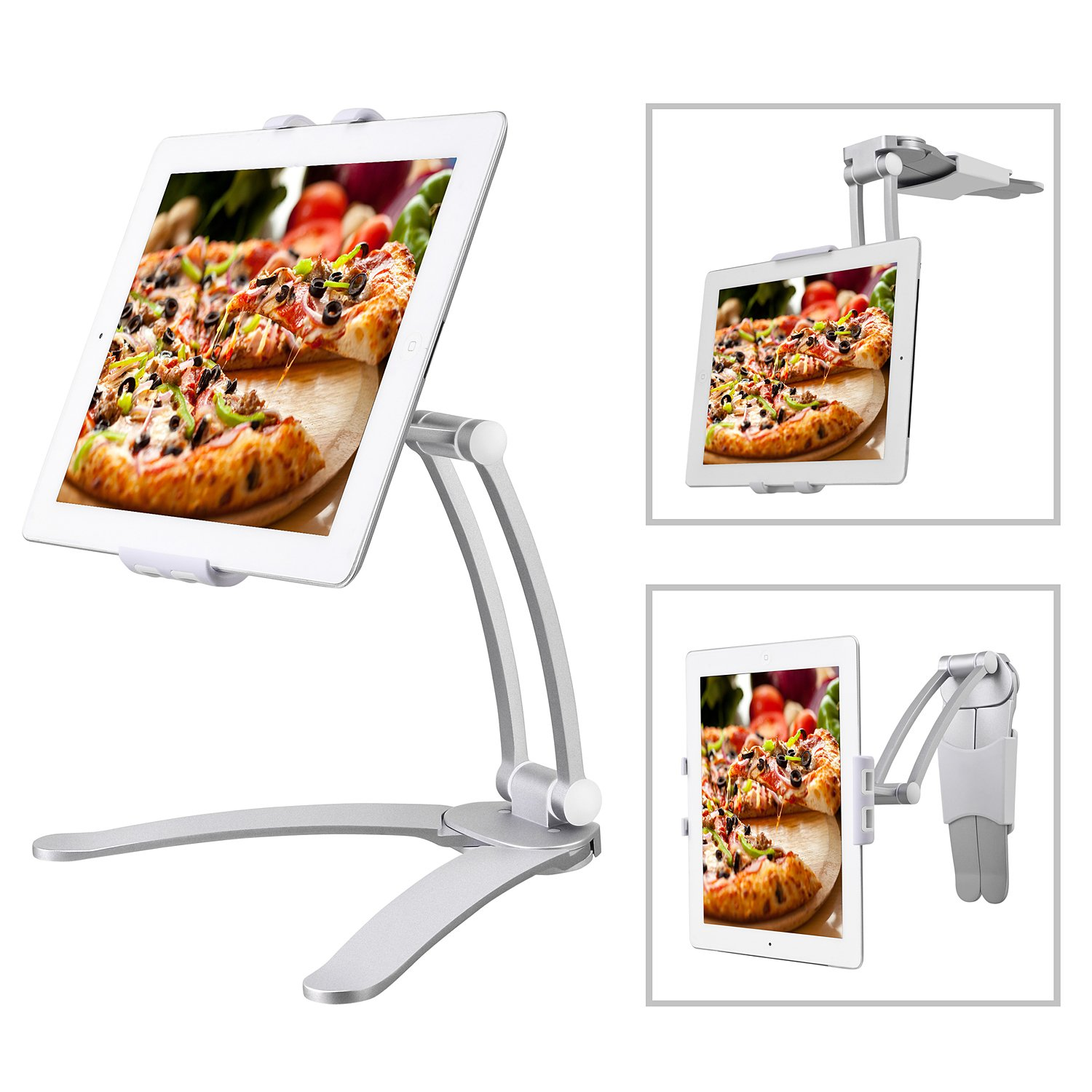 Marvelous Bingxue Kitchen Ipad Tablet Mount Stand For Wall Desktop Countertop Mount Recipe Holder For Ipad Mini Ipad Air Pro 10 5 9 7 Galaxy Tab Nexus Surface Home Interior And Landscaping Palasignezvosmurscom